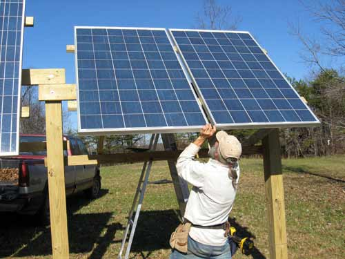 Low Cost Adjustable Solar Panel Rack