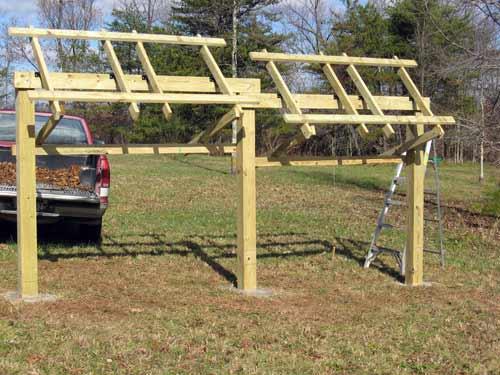 Low Cost Adjustable Solar Panel Rack