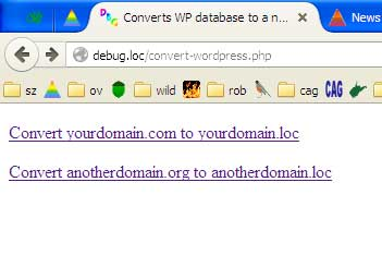 Output if you run convert-wordpress.php without editing the default site conversion definitions.