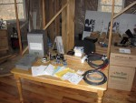 DC breaker box, combiner box, circuit breakers, meters, misc wire charge controller and inverter still in boxes
